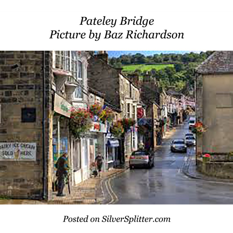 Picture of Pateley Bridge in the rain by Baz Richardson and posted on SilverSplitter.com