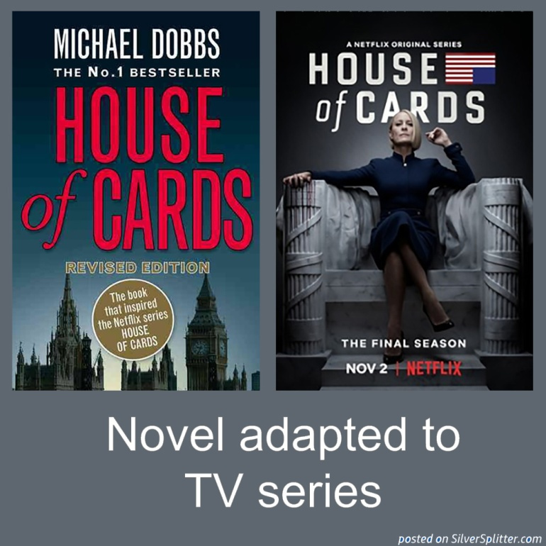 Picture of House of Cards novel and TV series poster
