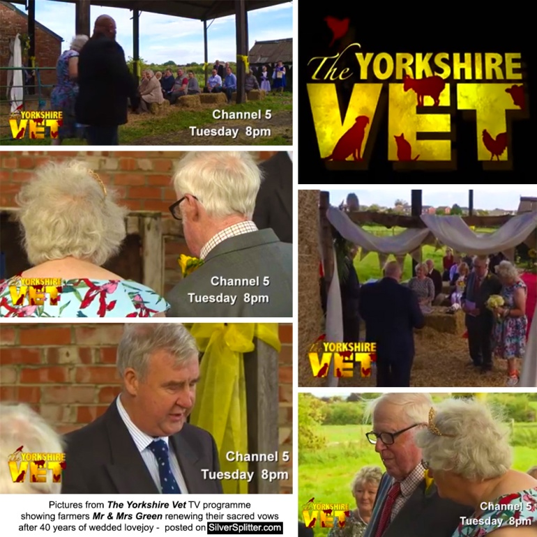 Thirsk Farmers, Steve and Jeanie Green, renew their wedding vows after 40 years of wedded lovejoy on their home farm, aired on The Yorkshire Vet TV programme channel 5